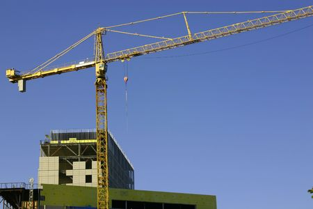 Construction site & the Crane - Zoomed in