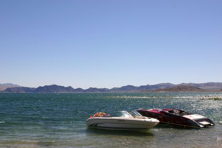 mead: Boats on Lake mead