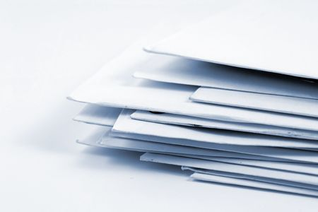bundle of letters: Stacked Mail - Close up on Envelopes Stock Photo