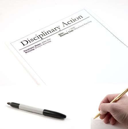 Disciplinary Action Paper - hand with pen and marker included separately.  Feeback Paper dimension 3072x2048... Hand with pen dimension 1000x990, Marker dimension 1700x760