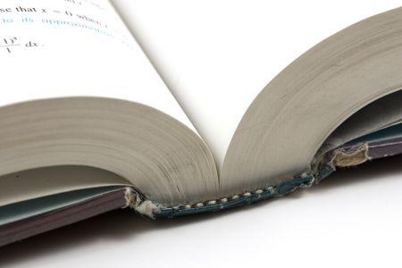Ciérrese para arriba en un libro abierto Foto de archivo - 293733