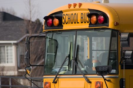 dilsiz: Close up on a School Bus Stock Photo