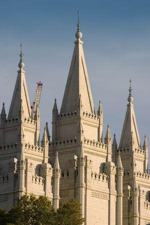 salt lake city: Templo Morm�n en Salt Lake City, Utah  Foto de archivo