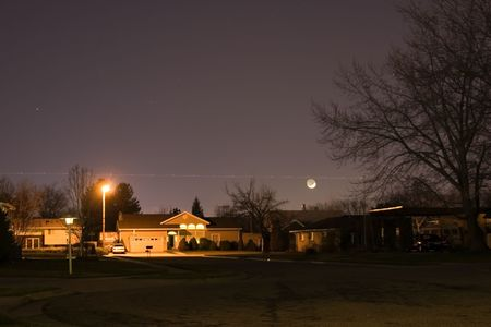 Night Shot of a Neighborhood Stock Photo - 373086