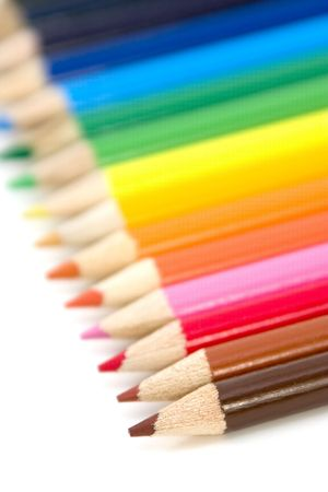 Colored Pencils with Shallow DOF photo