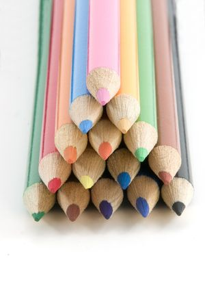 Colored Pencils in Pyramid - All in Focus photo