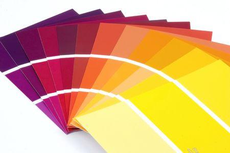 紫色に黄色のペンキのサンプル 写真素材