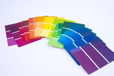 All Colors - Paint Samples Stock Photo