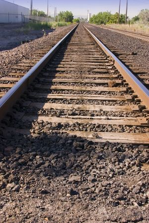 Close up on Railroad Tracks photo