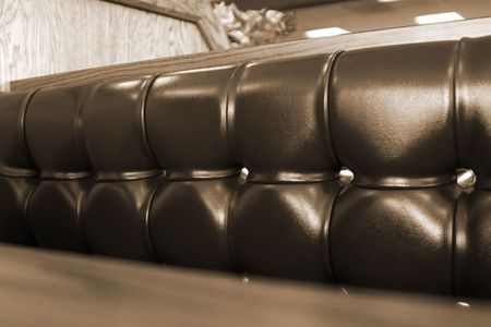 Close up on the cushions of a Fast Food Restaurant Stock Photo