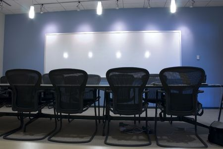 Conference Room and the empty chairs Stock Photo