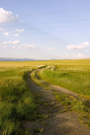 Path Leading to the Field in Helena Montana Stock Photo - 466298
