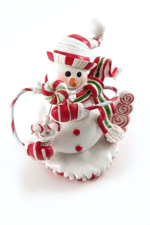 Snowman Christmas Decoration House Stock Photo
