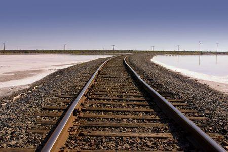 rail cross: Close up on Railroad Tracks