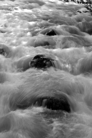 Flowing water in River