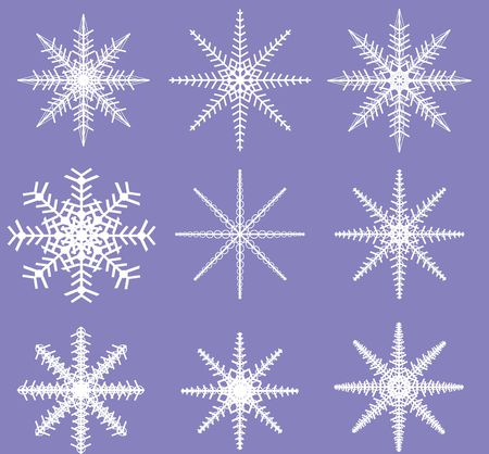 defined: Two color Snowflake Template ready to be defined as a Brush