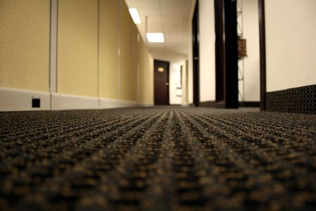 Hallway of an Office with Cubicle Walls and Open Doors Stock Photo - 950125