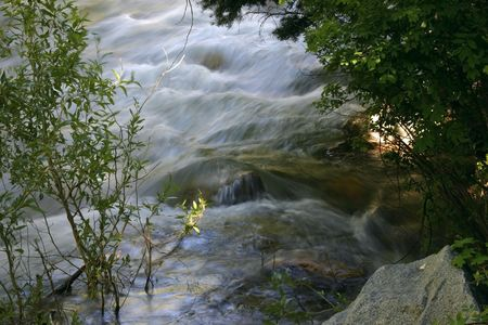 Flowing water in River Stock Photo - 1896635