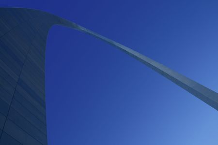 The Arch at St. Louis - Close up Abstract Perspective