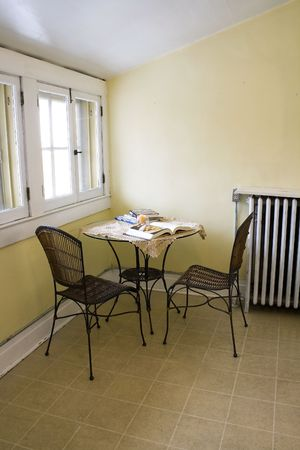 Close up on an Attic Room with Chairs and a Table Stock Photo - 2136894