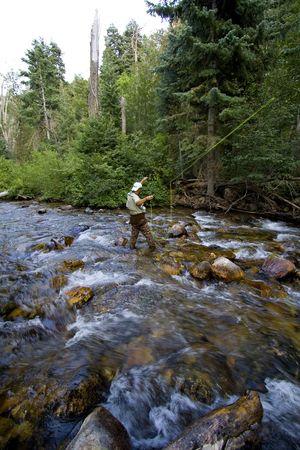 fly: Pescador en r�o