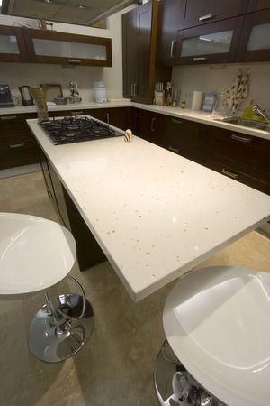 eclecticism: Vertial Shot of a Trendy Modern Kitchen