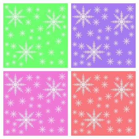 Multi color Snowflake background for Postcards Stock Photo - 3538684