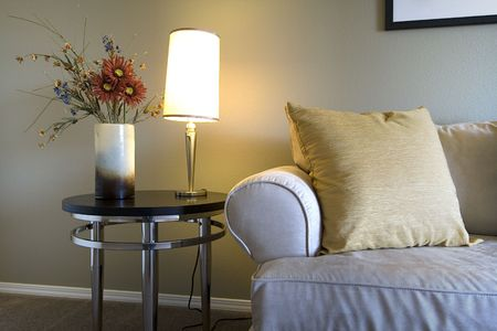 Close up on a Trendy Modern Dining Room