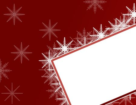 Christmas Background with Ornaments and Snowflakes photo
