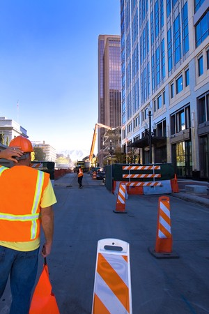 Construction Site in Downtwon Salt Lake City