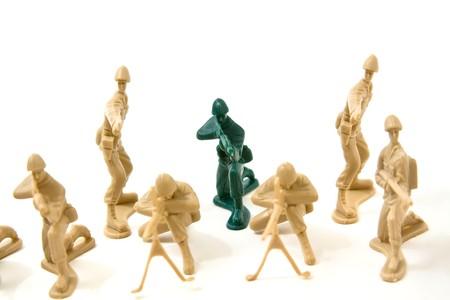 osare: Isolata soldatini di plastica - Dare essere concetto diverso