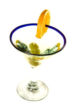 studioshot: Martini Glass - Isolated on White Background