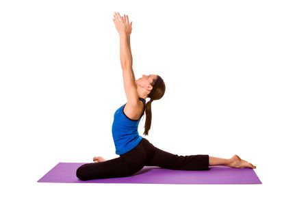 Woman in Yoga Position - Isolated Background Фото со стока
