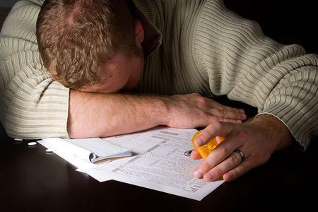 Preparing Taxes - Concept Suicide