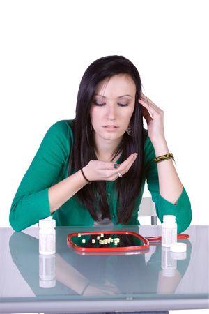 Teen Girl Taking Drugs - Teenage Drug Addiction Problem photo