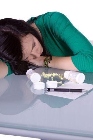 overdosering: Teenage Girl doen drugs - Overdose Death  Stockfoto