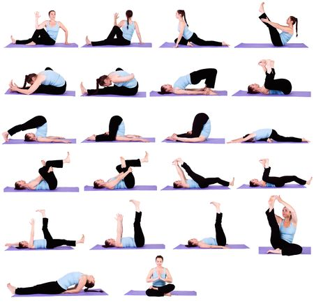 position: Woman in Multiple Yoga Positions - Collection