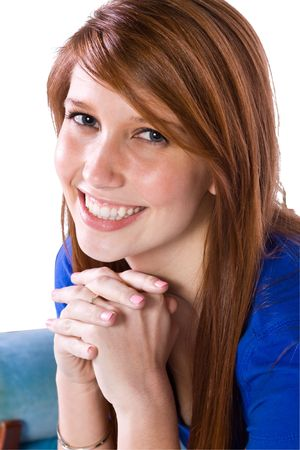 Close up shot of a Beautiful Girl Smiling Stock Photo - 6530137