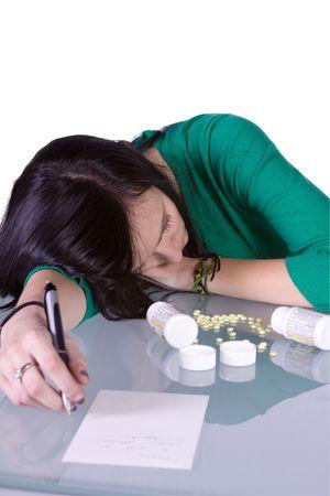 drug control: Teenage Girl Doing Drugs - Overdose Death