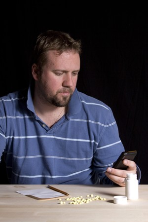 Man Taking Drugs - Man Drug Addiction Problem photo