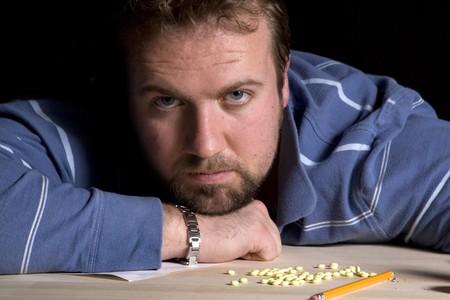 Man Taking Drugs - Man Drug Addiction Problem Stock Photo - 6912870