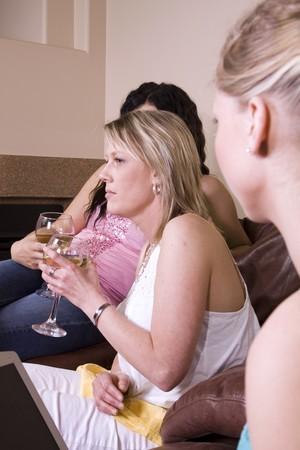 Three Females Socializing at Home photo