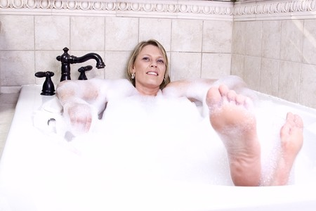 Close up on a Woman in the Tub Bathing Stock Photo - 7220155