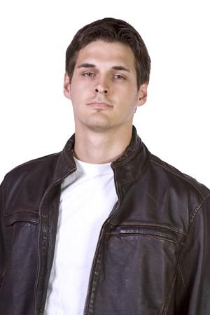 Close-up op een Man gezicht - geïsoleerde achtergrond
