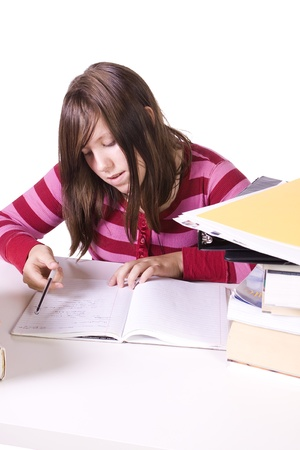 Young high school student studying for exams Stock Photo - 8588744