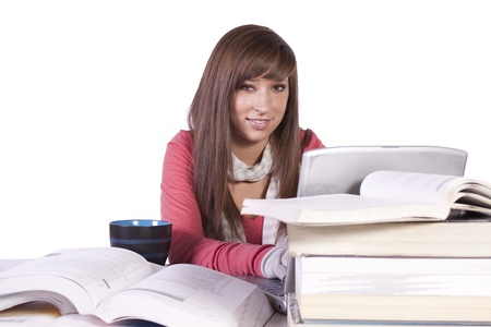 Young high school student studying for exams Stock Photo - 8612876