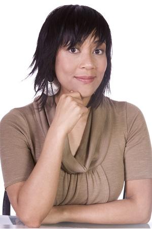 Close up of a Beautiful Asian Hispanic Girl - Isolated Shot Stock Photo - 8765800