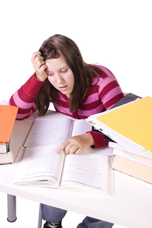 Young high school student studying for exams Stock Photo - 9740855