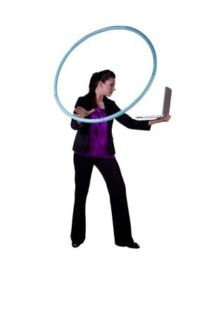 ambiente laboral: Entorno de trabajo libre de estr�s empresaria relajante en la Oficina por el hula-e-