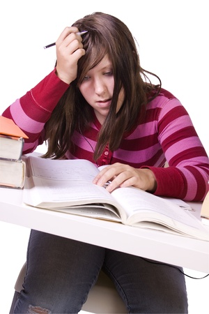 Young high school student studying for exams Stock Photo - 11777592
